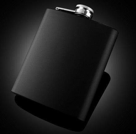 Hip Flask - Black Stainless Steel (7 oz) - Bar Stop Canada