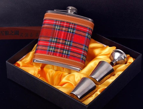 Hip Flask - High Fashion <br>Gift Set (9 oz) - Bar Stop Canada