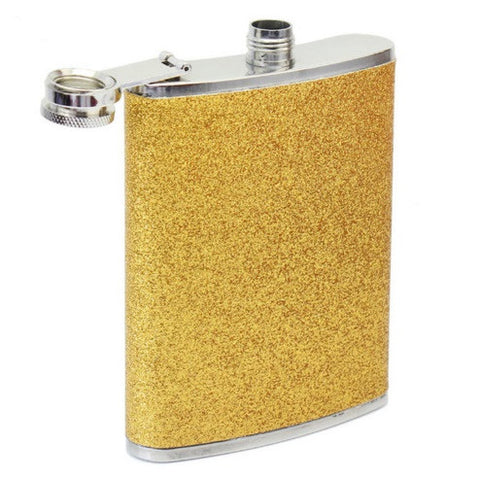 Hip Flask - Gold <br>(8 oz) - Bar Stop Canada