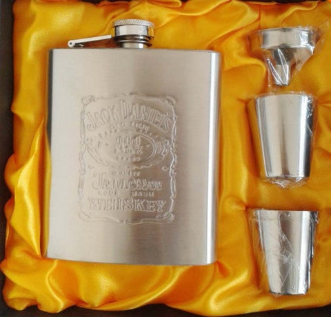 Hip Flask - Jack Daniels <br>Gift Set (7 oz) - Bar Stop Canada - 1
