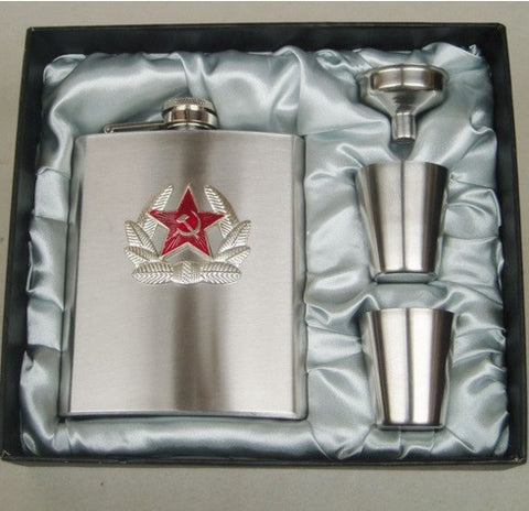 Hip Flask - Russian Gift Set (7 oz) - Bar Stop Canada