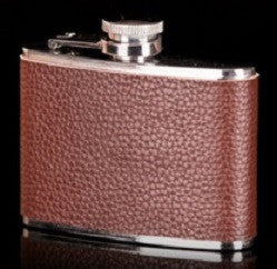Hip Flask - Brown Leather <br>(4 oz) - Bar Stop Canada - 1