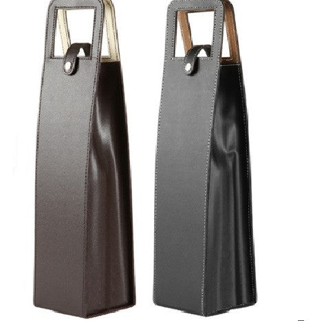 Leather Wine Gift Bag - Bar Stop Canada