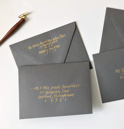 envelope modern calligraphy for wedding and party invitations