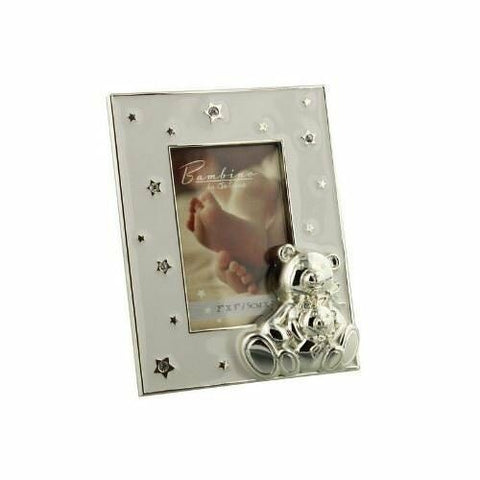 Bambino by Juliana Picture Frame - 2x3 Silverplated Teddy Frame - CG122823 - hanrattycraftsgifts.co.uk