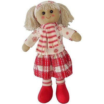 Rag Doll With Scarf - Handmade - Medium 40cms - Powell Craft - hanrattycraftsgifts.co.uk
