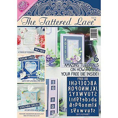 Create and Craft Paper The Tattered Lace Magazine Issue 15 - hanrattycraftsgifts.co.uk