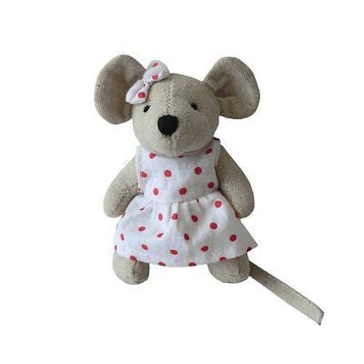 Mouse - Small Girl With Bow - 10cm - Powell Craft - hanrattycraftsgifts.co.uk