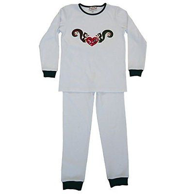 powell craft squirrel pyjamas 4 - 5 yrs - hanrattycraftsgifts.co.uk
