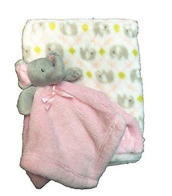 Supersoft Luxurious Pink Elephant Pram/Crib Blanket & Baby Comforter - hanrattycraftsgifts.co.uk