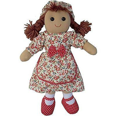 Vintage Floral Rag Doll - Handmade - Large 40cms - Powell Craft - hanrattycraftsgifts.co.uk