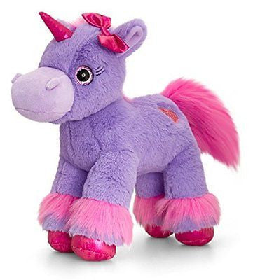 Keel Glitter Gems Unicorn with Applique Heart 18cm, Babies Soft Toys and Gifts ( - hanrattycraftsgifts.co.uk