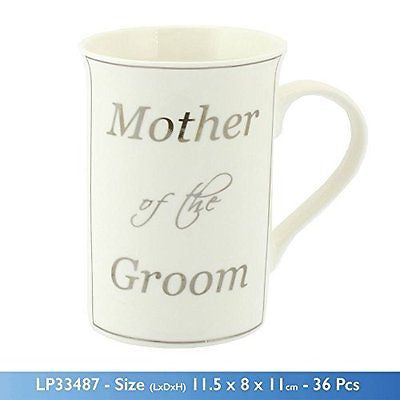 Mother of the Groom Fine China Mug Wedding Thank You Gift - hanrattycraftsgifts.co.uk