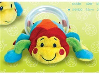 Keel Toys Cuddly Soft Snug as a Bug Spider Rattle Baby Gift 15cm - hanrattycraftsgifts.co.uk