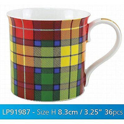 Tartan Mug Buchanam - hanrattycraftsgifts.co.uk