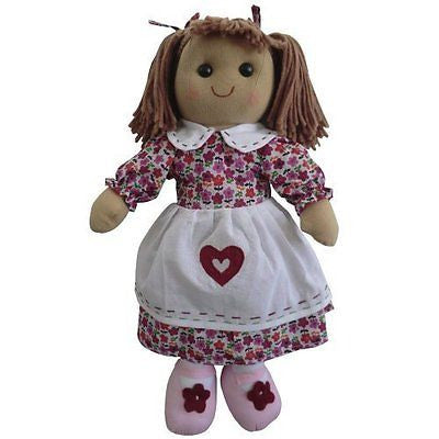 Floral Rag Doll - Handmade - Large 40cms - Powell Craft - hanrattycraftsgifts.co.uk