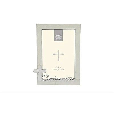 silver plated confirmation photo frame 4 x 6 - hanrattycraftsgifts.co.uk