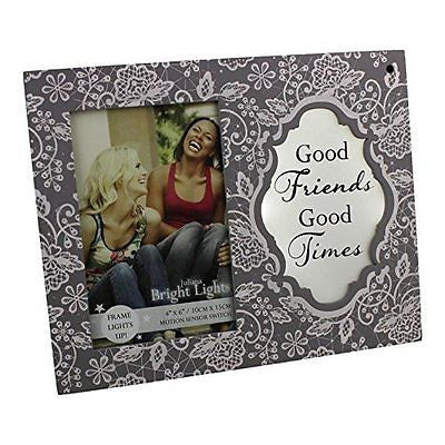 Good Times Light Up Motion Sensor Photo Frame Bright Lights By Juliana Gifts - hanrattycraftsgifts.co.uk