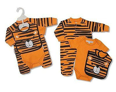 Fantastic Baby 3pc cotton set by Nursery Time - Tiger, 3-6 Months - hanrattycraftsgifts.co.uk