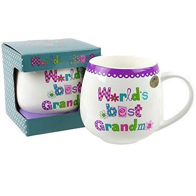 Worlds Best... Collection MUG/CUP by Leonardo Gift Box grandma - hanrattycraftsgifts.co.uk