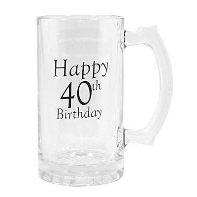 40th Birthday Celebrate In Style Beer Tankard - hanrattycraftsgifts.co.uk