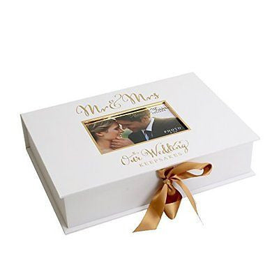 Always & Forever' Gold Foil A4 Keepsake Box - Mr & Mrs - hanrattycraftsgifts.co.uk