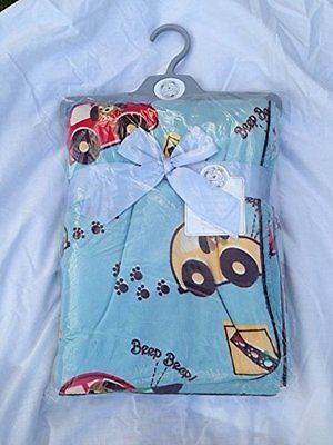 BABY WRAP OR BLANKET FOFT FLEECE LINED BLUE 100 X 75 CMS - hanrattycraftsgifts.co.uk