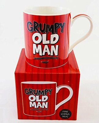 Mug Inscription Grumpy Old Man Fathers Day Dad Daddy d'anniversaire Thé Tasse à - hanrattycraftsgifts.co.uk