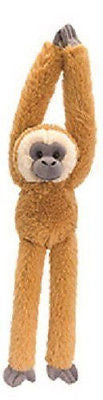 Keel Toys 65cm Hanging Brown Gibbon Soft Toy - hanrattycraftsgifts.co.uk