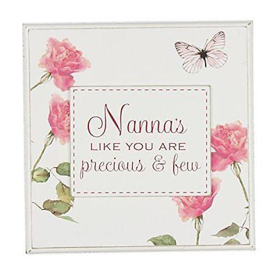 "White Floral Sentimental Wooden Wall Plaque - ""Nanna's Like You Are Precious and - hanrattycraftsgifts.co.uk"