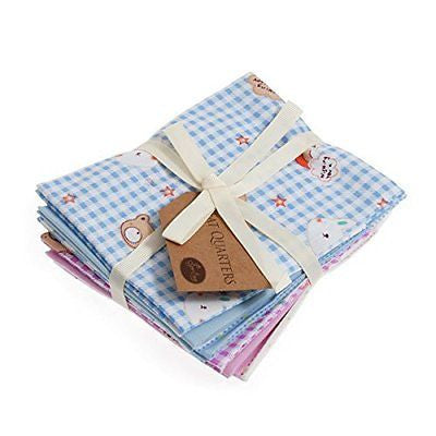 Fat Quarter Bundle: Cotton: 6 x 54cm x 45cm: Bunny and Teddy - hanrattycraftsgifts.co.uk