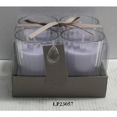 "Desire ""Lavender"" Set Of 4 Scented Candles - hanrattycraftsgifts.co.uk"