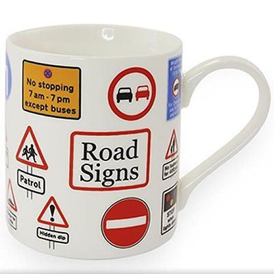 Road Signs taza de porcelana - hanrattycraftsgifts.co.uk