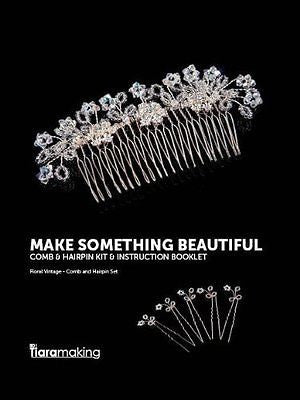 BDi FLORAL VINTAGE comb & hair pin Kit Full Picture Instructions All Mat. Incl.