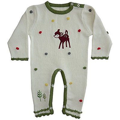 powell craft woodland creatures knitted jumpsuit 0-6 months - hanrattycraftsgifts.co.uk