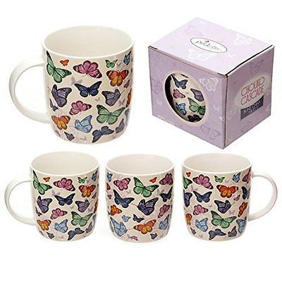 Butterfly Cascade Design Bone China Mug Gifts, and, Cards Teacher, School, Gifts - hanrattycraftsgifts.co.uk