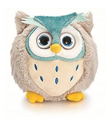 10 cm médaillon rond en peluche en peluche Chouette Volume Big Eyes Comprend Sac - hanrattycraftsgifts.co.uk