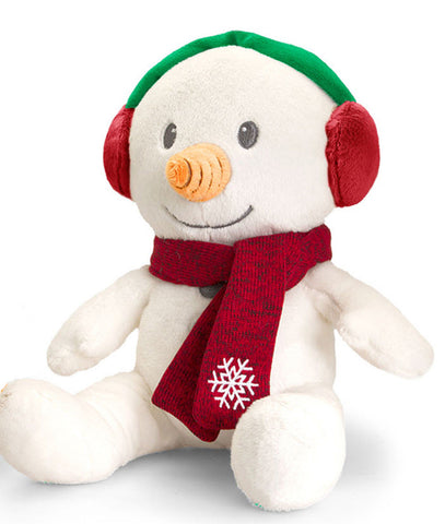 Christmas Pals Soft Toy Teddy by Keel Toys Xmas Gift Present - SNOWMAN - hanrattycraftsgifts.co.uk