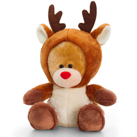 christmas Pipp Bear Soft Toy Teddy by Keel Toys   REINDEER - hanrattycraftsgifts.co.uk