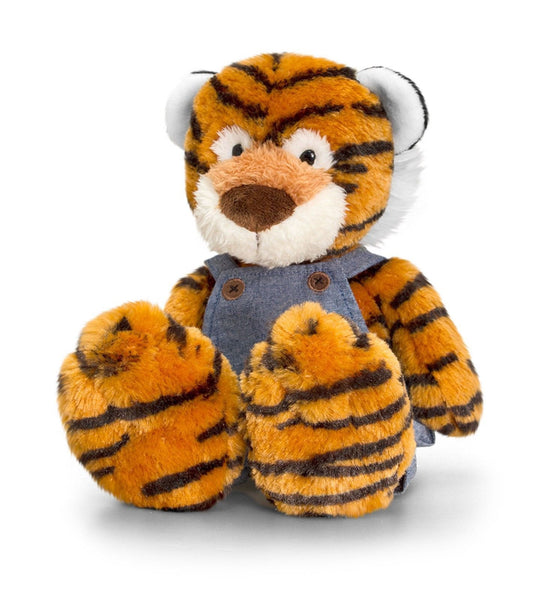 Keel Toys Tumbleweed Wild 20cm Tiger W/ Dungarees - hanrattycraftsgifts.co.uk