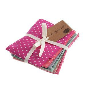 Sew Easy Staples : Spotty Dotty - 6 Fat Quarters - hanrattycraftsgifts.co.uk