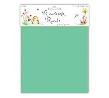 Helz Cuppleditch Riverbank Revels 6 x 6-inch Cards and Envelopes - hanrattycraftsgifts.co.uk
