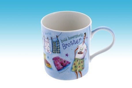 BROTHER FINE CHINA MUG BOLD BOXERSHORTS DESIGN