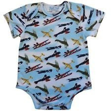 powell craft vintage plane babygrow handmade - hanrattycraftsgifts.co.uk