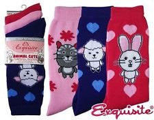 animal cute thermal socks 3par pack exquisite elegance