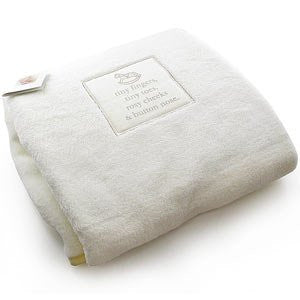 Bambino Cream Fleece Baby Blanket