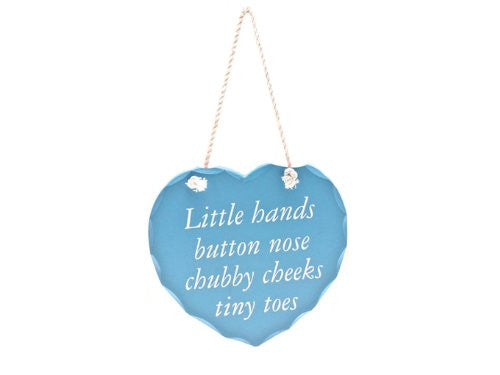 Baby's Room Hanging Heart - Cute Saying! Baby Boys Room