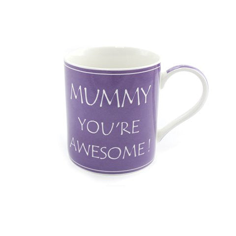 MaSaYa Mummy You're Awesome - Boxed Mug - hanrattycraftsgifts.co.uk