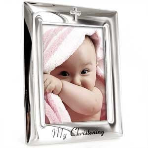 Christening Collection Silver Plated My Christening 5 x 7 Photo Frame