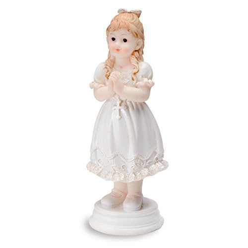 CLUB GREEN Resin Praying Girl Standing, White, 102 mm, Pack of 6